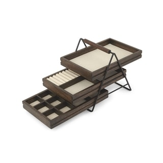 Umbra Terrace Walnut Jewelry Tray