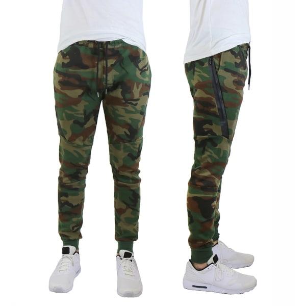 Galaxy By Harvic Men's Performance Tech Fleece Jogger Lounge Sweatpants With Side Zipper 32438121