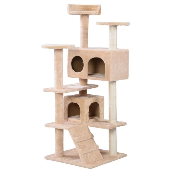 Cat Tree Tower Condo Furniture Scratch Post Kitty Pet House Play Beige 32449241