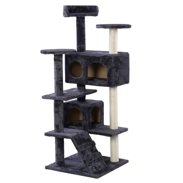 Cat Tree Tower Condo Furniture Scratch Post Kitty Pet House Play Gray 32449268