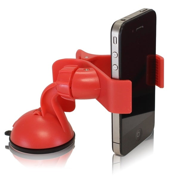 Furinno IP11-PI Easy Mount Suction Universal Car Phone Mount Holder, Red 32451843