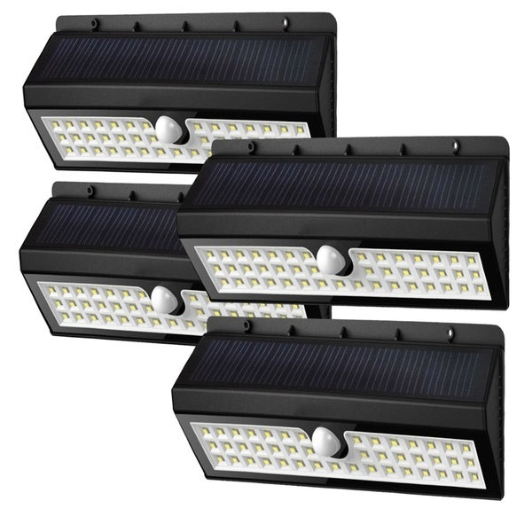 Solar Garden Lights 44 Bright LEDs Motion Sensor Lights Waterproof & Wireless - Set of 4 32452392