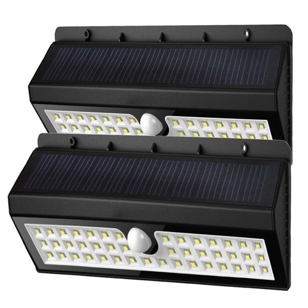 Solar Garden Lights 44 Bright LEDs Motion Sensor Lights Waterproof & Wireless - Set of 2 32452393