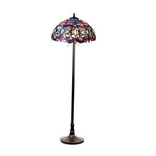 Chloe Tiffany Style Victorian Design 2-light Dark Antique Bronze Floor Lamp