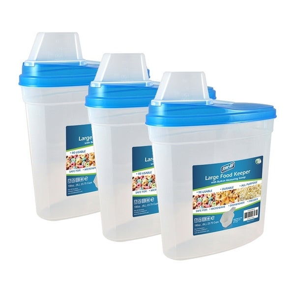Stor-All Solutions Large Food Keeper w/ Scoop Lid- 3 Pack 32475154