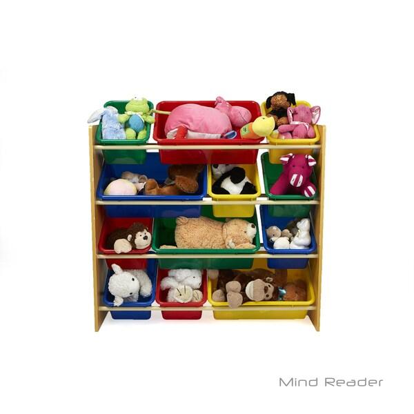 Mind Reader 4 Tier Wood Toy Organizer, Brown 32478970