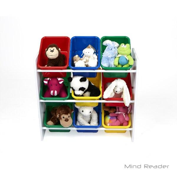 Mind Reader 3 Tier Storage Bin Toy Organizer, White 32478988