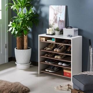 Furniture of America Tosh Urban Brown 6-shelf Shoe Cabinet