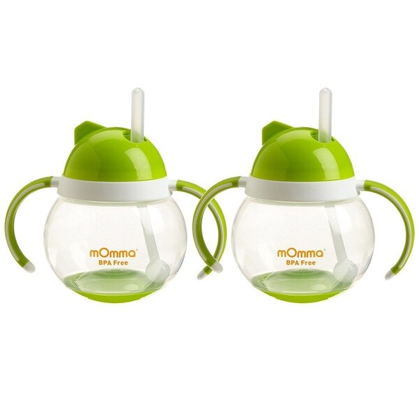 Lansinoh mOmma Straw Cup with Dual Handles - Green - 2 Count 32488715