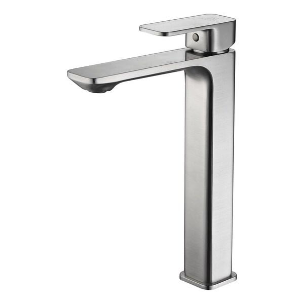 Vibra Single Hole Single-Handle Bathroom Faucet in Brushed Nickel 32490721