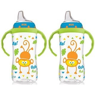 NUK 10 Ounce Jungle Large Learner Cup With Handles - 2 Pack - Boy 32490728