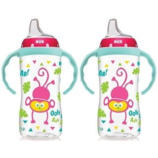 NUK 10 Ounce Jungle Large Learner Cup With Handles - 2 Pack - Girl 32490783