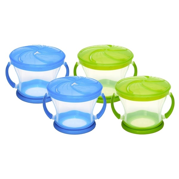 Munchkin Snack Catcher - 4 Pack - Green/Blue 32491119