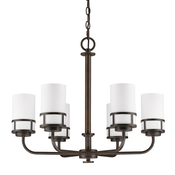 Acclaim Lighting Alexis Oil-rubbed Bronze Metal 21-inch Indoor 6-light Chandelier with Opal Glass Shades 32491159