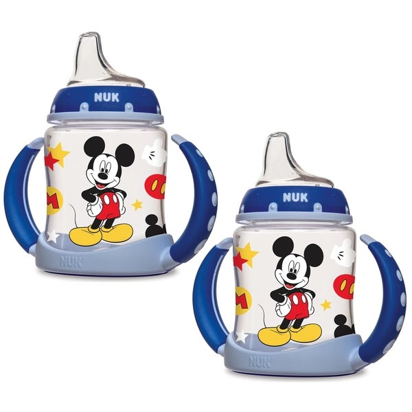 NUK Disney 5 Ounce Learner Cup with Silicone Spout - Mickey Mouse - 2 Count 32491301