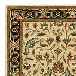 Hand-tufted Patina Beige/Black Wool Rug (8' x 11')