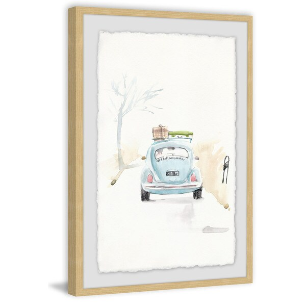 'Blue Bug Trip' Framed Painting Print 32522400