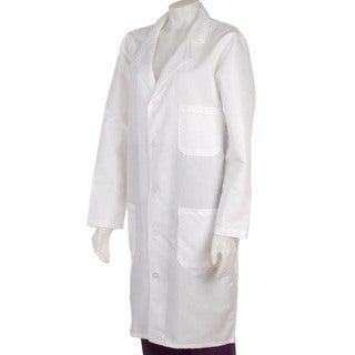 Medline Unisex White Knee Length Lab Coat