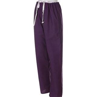 Medline Unisex Reversible Purple Scrub Pants