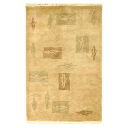 Safavieh Hand-knotted Beige/ Multi Tibetan Wool Rug (6' x 9')