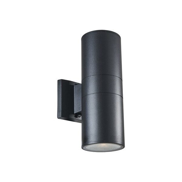 Chloe Transitional 2-light Textured Black Outdoor LED Wall Sconce 32523654