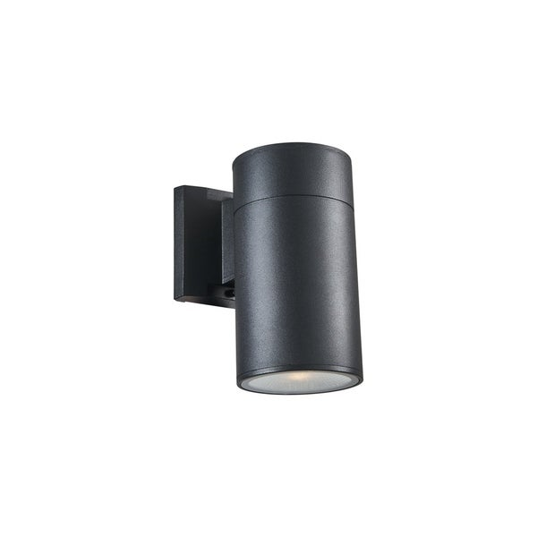 Chloe Transitional 1-light Textured Black Outdoor LED Wall Sconce 32523658