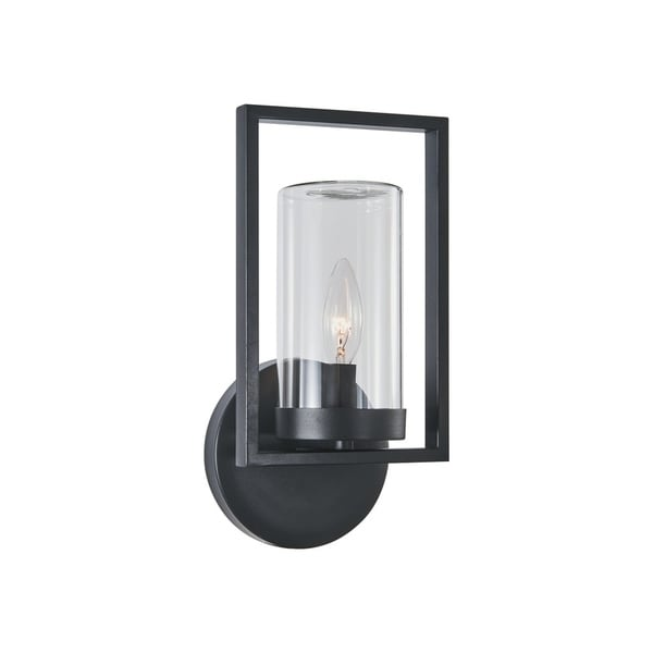 Chloe Transitional 1-light Textured Black Outdoor Wall Sconce 32523673
