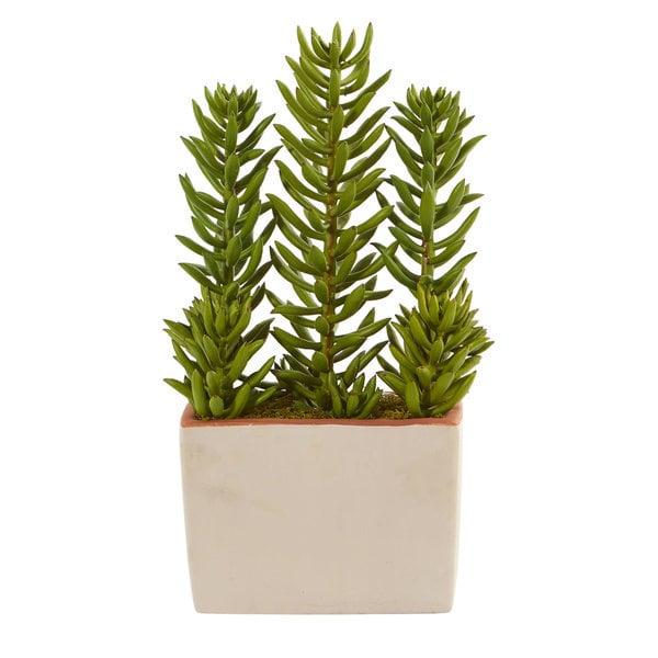 """17"""" Succulent Artificial Plant With Decorative Planter 32525169"""