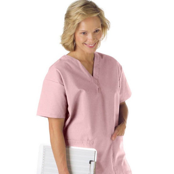 Medline Ladies V-neck Carnation Scrub Top