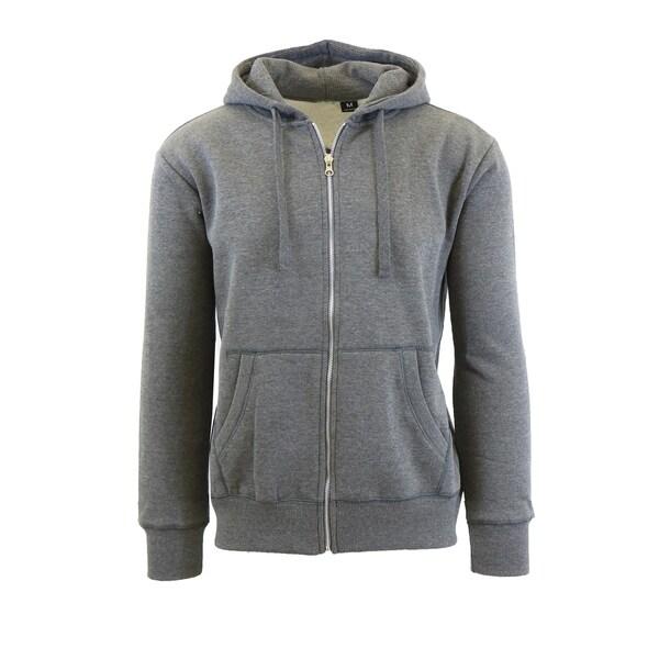 Men's Fleece Lined Zip-Up Hoodies With Thermal Lined Hood 32526030