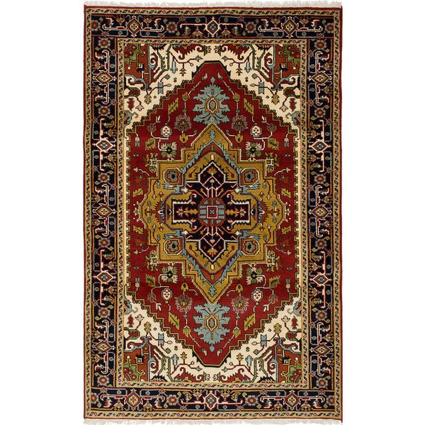 eCarpetGallery Hand-Knotted Serapi Heritage Red Wool Rug (5'1 x 8'1) 32541817