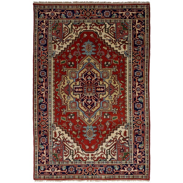 eCarpetGallery Hand-Knotted Serapi Heritage Red Wool Rug (5'1 x 8'0) 32541851