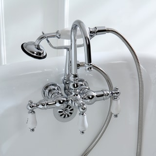 Americana Modern Wall-Mount Chrome Clawfoot Tub Faucet