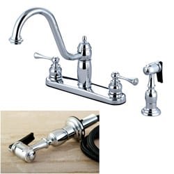 Heritage Chrome Kitchen Faucet with Spray