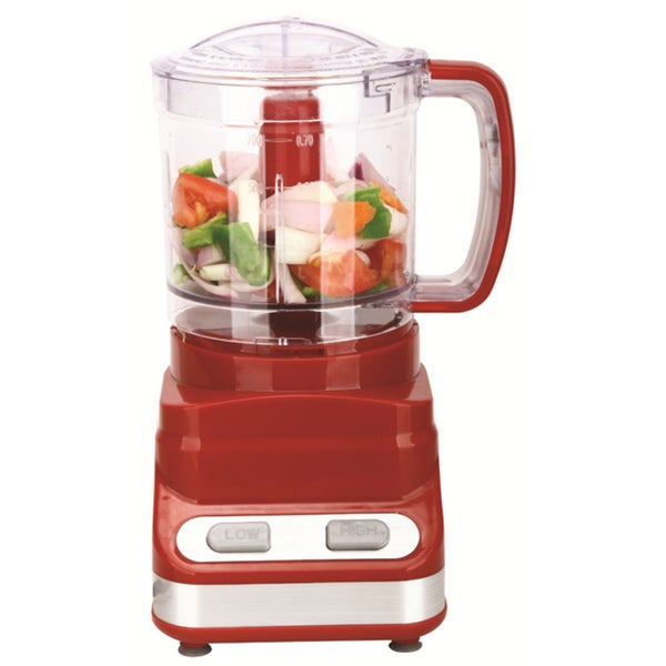 Brentwood Three Cup Red Food Processor (As Is Item) 32569555