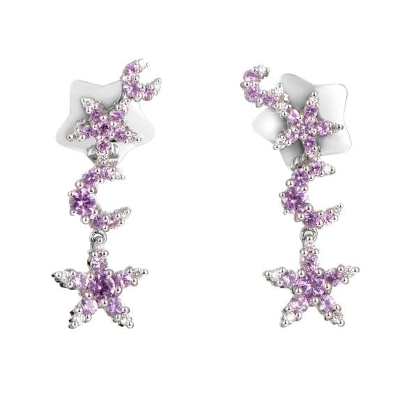 Pasquale Bruni Incanto White Gold Diamond & Pink Sapphire Dangle Earrings 32583338