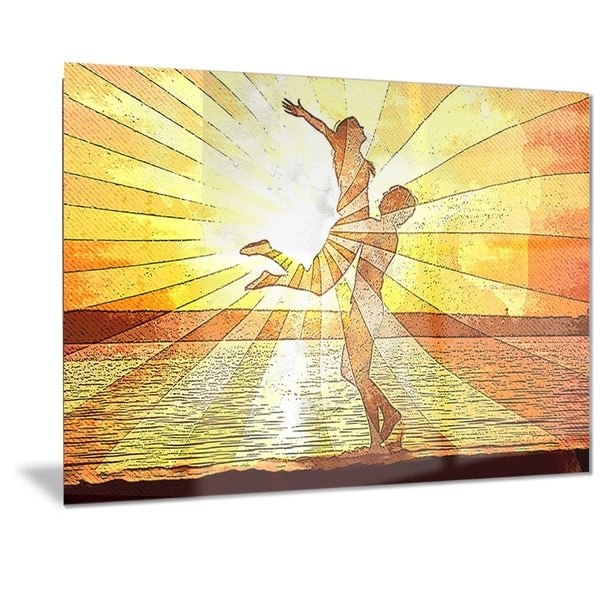 Designart 'Rays of Light Sensual Metal Wall Art 32601779