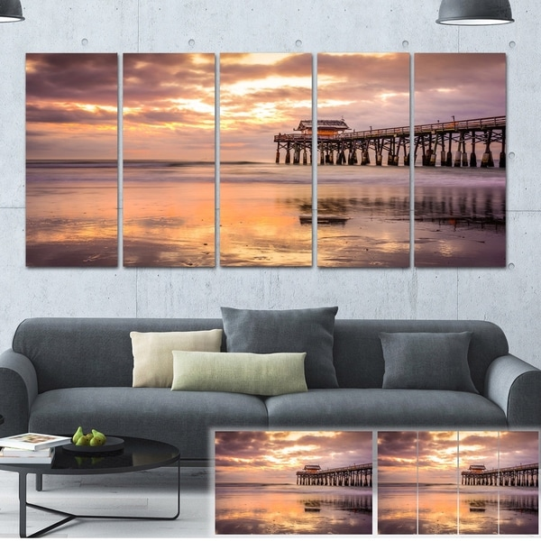 Designart 'Cocoa Beach Florida' Landscape Photo Canvas Art Print 32621807