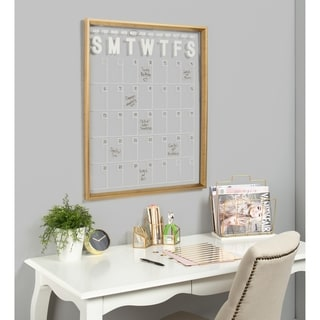 Kate and Laurel Calter Framed Erasable Acrylic Monthly Wall Calendar - 25.5x31.5