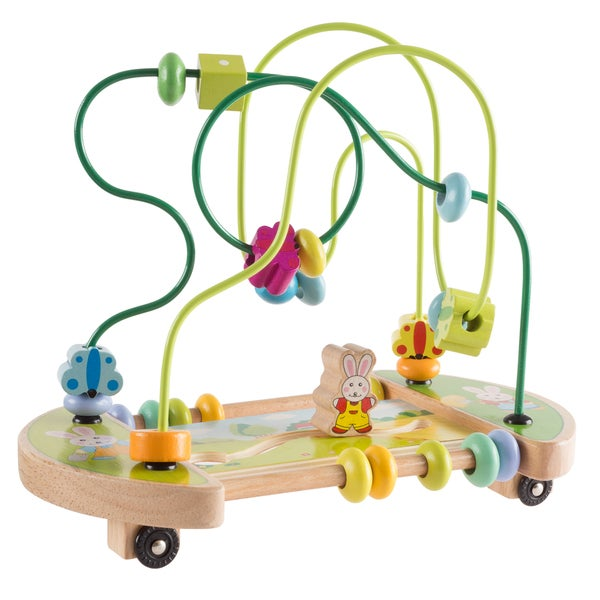 Wooden Maze Toy with Interactive Beads, Puzzle Table Game and Activity Center, Educational Toy by Hey! Play! 32708615