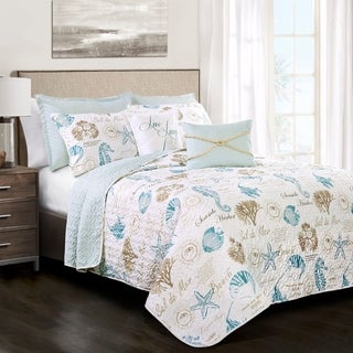 Lush Decor Harbor Life 7 Piece Quilt Set