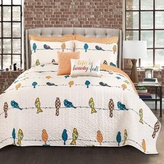 Lush Decor Rowley Birds 7 Piece Quilt Set