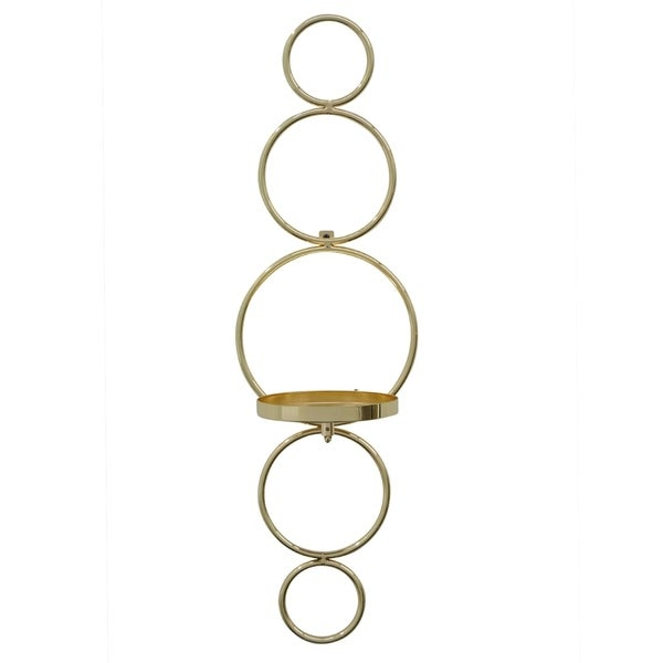 Three Hands Goldtone Metal Wall Sconce 32723326