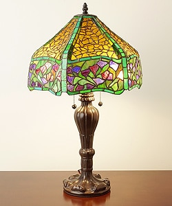 Tiffany-style Chocolate Table Lamp