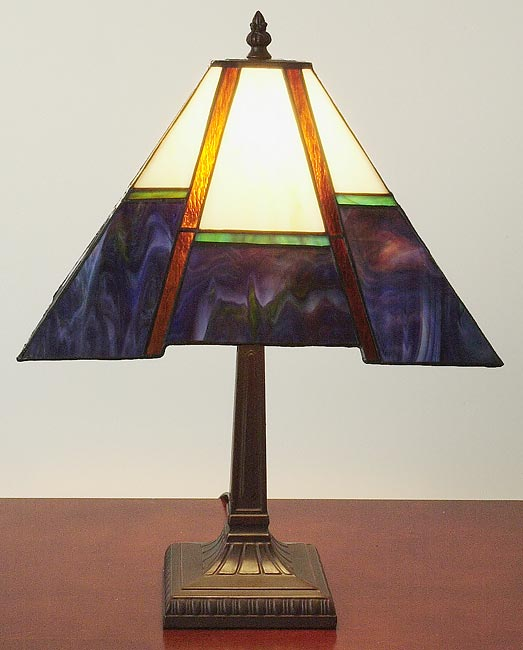 Tiffany-style Blue Mission-style Table Lamp