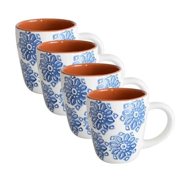 Euro Ceramica Azul Tile Mugs (Set of 4) 32736200