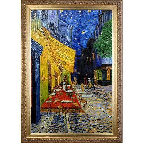 Vincent Van Gogh 'Cafe Terrace at Night' (Luxury Line) Hand Painted Oil Reproduction 32743343