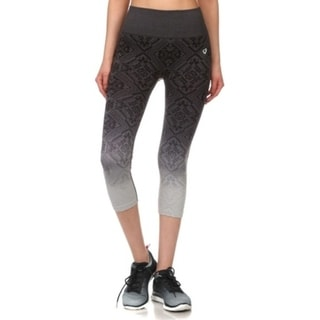 Junior's Teenagers Seamless Ombre Exercise Yoga Capri Leggings Pants 32744393