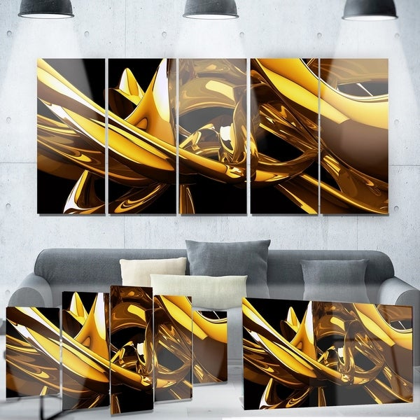 Designart 'Red VS Blue Abstract' Metal Wall Art 32753888