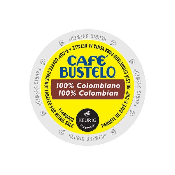 Cafe Bustelo 100% Colombian, Regular Keurig K-Cup 96 Count 32770084
